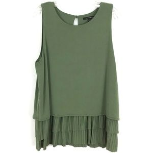 Banana Republic swing tank top tiered ruffle hem